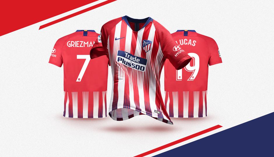 Maillot Domicile Atlético de Madrid Lemar