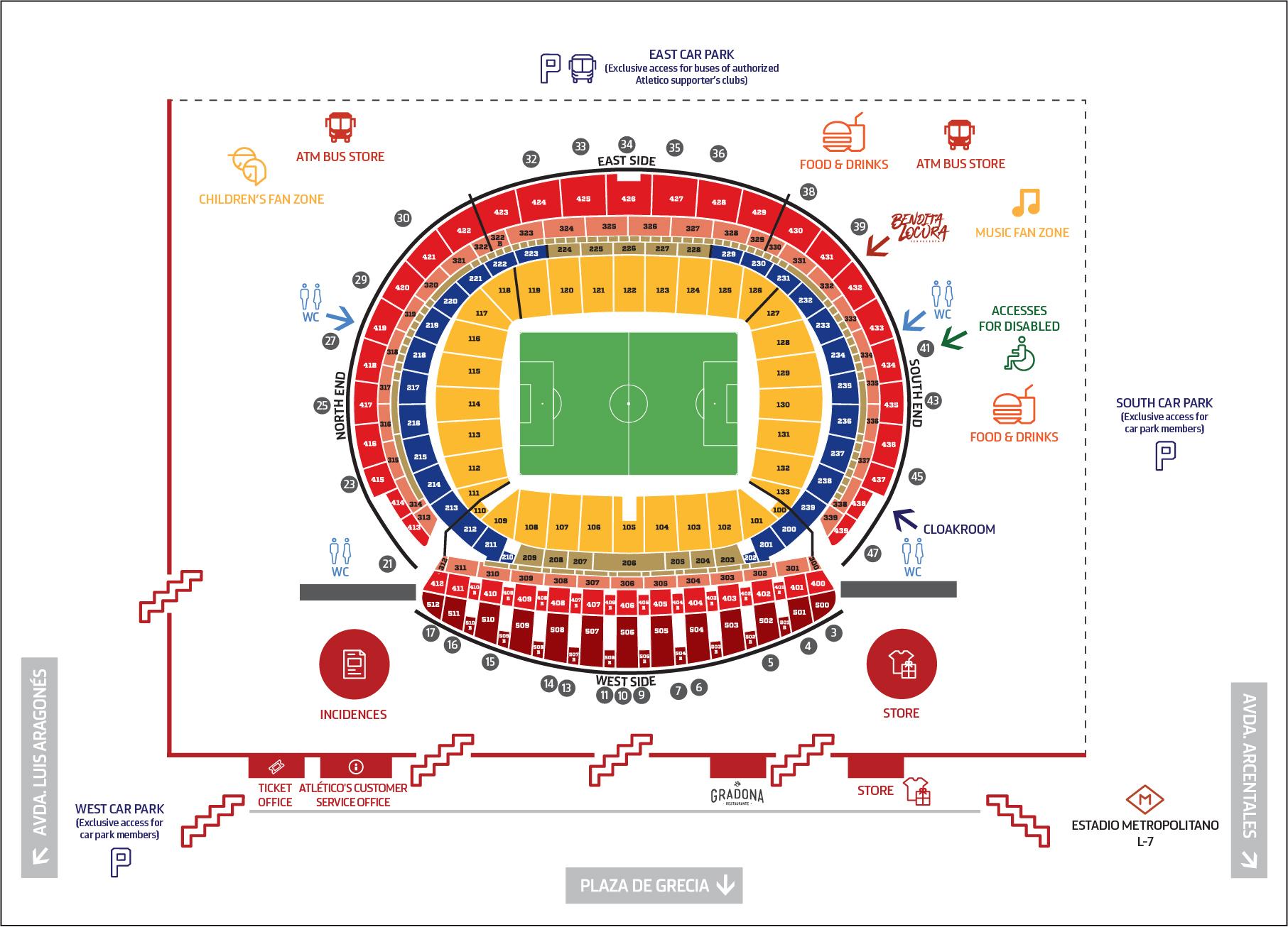 Temporada 2017 18. Mapa Wanda Metropolitano inglés. 8 de Marzo 2018 15173aab9