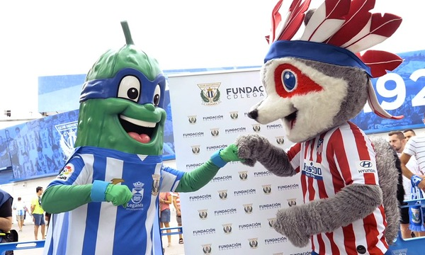 Indi and SuperPepino had a great time during Leganés-Atleti