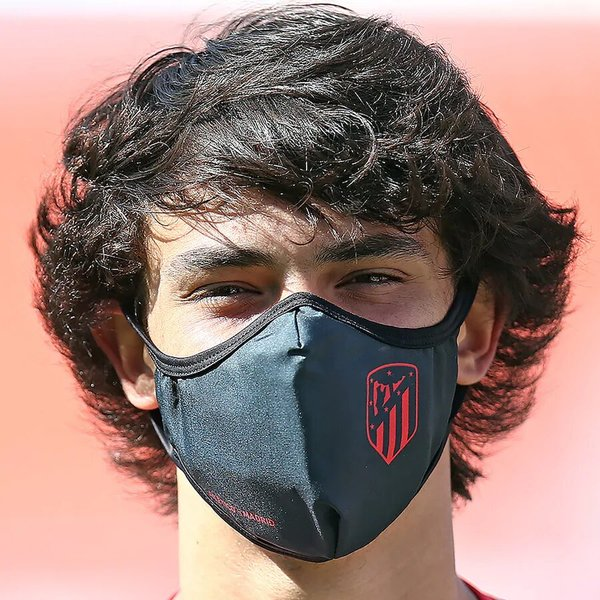 Atlético de Madrid Single Pack Face Coverings - Black - Adult